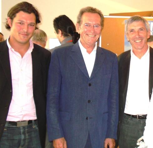 Jacky RAYMOND, Pdt Délégué du NC Gard, Julien DEVEZE, Délégué Départemental, aux côtés de Dominique BAUDIS à Nîmes.