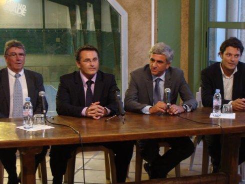 Pierre Becque, Thierry Del Poso, Julien Devèze, autour d'Hervé Morin