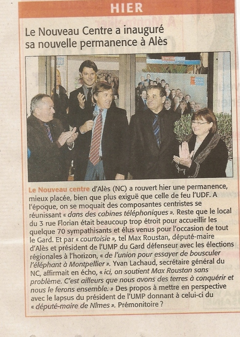 2009 11 6 Article Midi Libre ALES